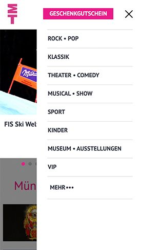 Screenshot Navigation München Ticket