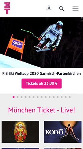 Screenshot Website München Ticket